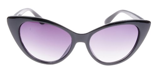 brity Designer Cat Eye Sunglasses Shades (Black) ()
