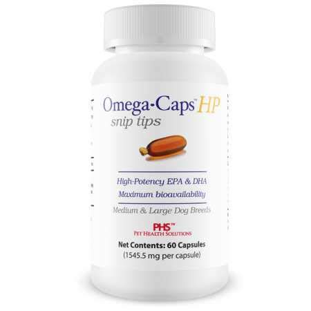 Healthy Pets Omega Caps HP Snip Tips for Medium & Large Dogs (60 Capsules) by Healthy Pets