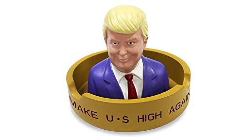 Donald Trump Creative Cigar Ash Tray, Resin Ash Holder for Indoor Outdoor Home Office and Car Ashtray Smoke Collectible Decoration - Collectible Ashtrays
