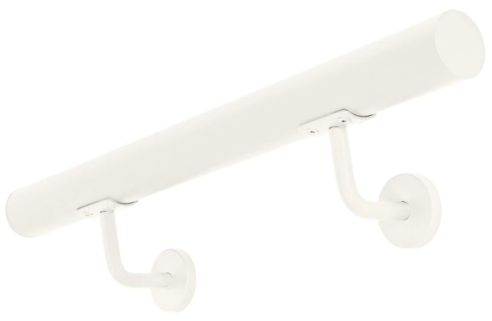 Longitud:60 cm Color:Blanco V2Aox Acero Inoxidable Pasamanos Barandilla Baranda para Escalera Montaje Pared 3 Colores 50-600 cm