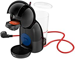 Krups Piccolo XS KP1A08 - Cafetera cápsulas Nestlé Dolce Gusto de 15 bares de presión y 1500 W potencia con depósito de 0.8 L, monodosis multibebidas frías y calientes, manual, compacta, negro
