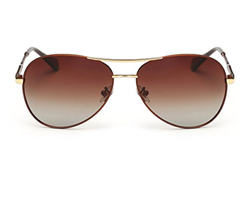 Heartisan Aviator Polarized Full Mirrored Metal Crossbar Sunglasses - Dubai Sunglasses Online Buy