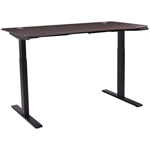 Wooden Stand Up Desk ~ Tangkula standing desk home office wood height adjustable