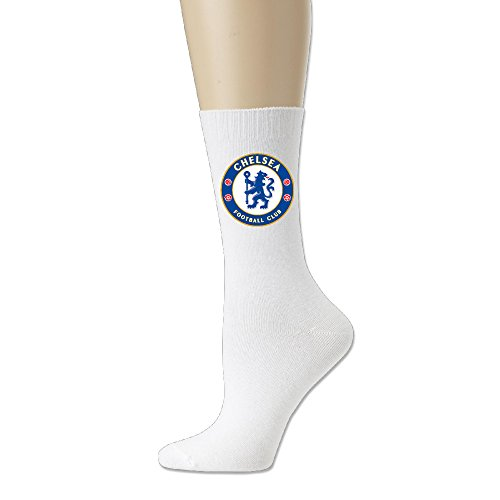 [Ayaxi Chelsea Football Club Unisex Cotton Crew Socks] (Football Club Cotton)