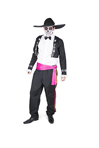 Naughty Halloween Costumes For Men (Men's Dia de los Muertos Mariachi Costume - Halloween Party Accessory - Large)