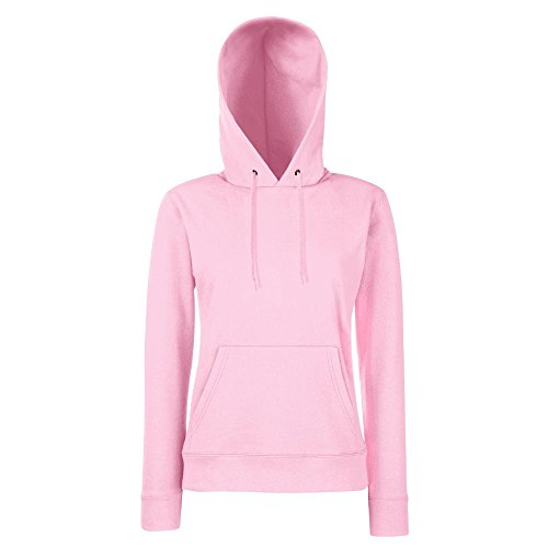 Fruit of the Loom - Lady-Fit Hooded Sweat XS,Light Pink