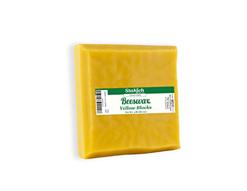 Stakich Yellow Beeswax Block