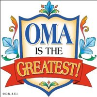 Essence of Europe Gifts E.H.G Oma Is The Greatest! Colorful Wall Tile Gift for Oma