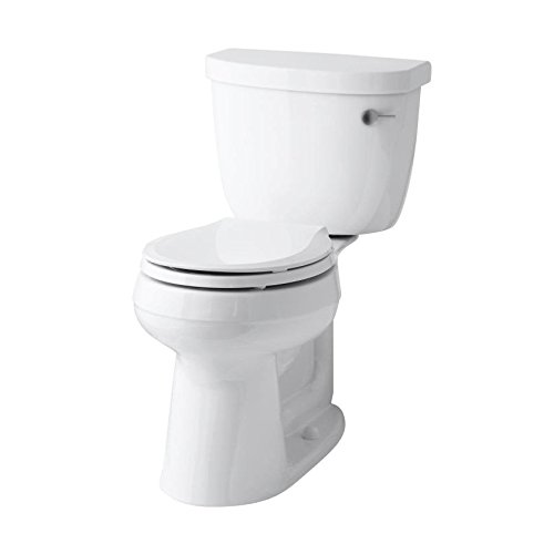 KOHLER K-3851-RA-0 Cimarron Comfort Height Two-Piece Round-Front 1.28 Gpf Toilet with Aquapiston Flush Technology