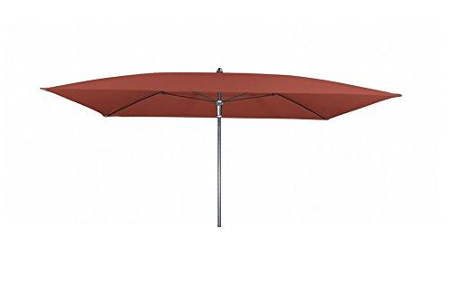 Doppler Absolut wasserdichter Gartenschirm Waterproof 230x190 ohne Volant, UV-Schutz 50 Plus, Farbe Terracotta