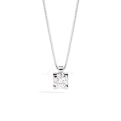 Collier Femme Point Lumière Diamant naturel or 18cts modèle maria teresa recarlo p30px265/008-45