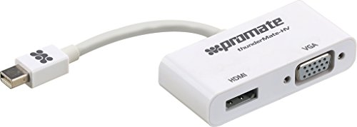 Price comparison product image Promate Thunder Mate HV High Speed 2-in1 Mini Display Port to HDMI and VGA Cable Adapter