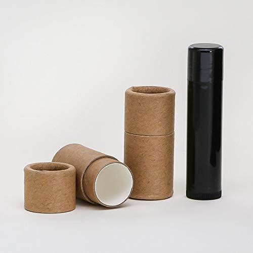 1/4 OZ Kraft Paperboard Lip Balm/Salve/Cosmetic/Lotion Tubes x1000 31g7KAVP4FL