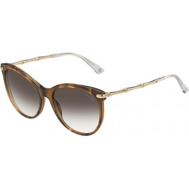 Sunglasses Gucci 3771/S 0HQX Red Horn Gold / JS brown gradient - Gucci Glasses Red