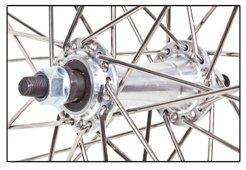 Front Silver HEAVY DUTY 12 Gauge 26 Inch x 1.5 Inch Rim