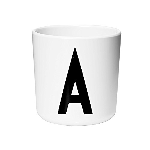 Design Letters - Children's Alphabet Melamine Cup, 2.8 x 2.9 Inches (A) ()