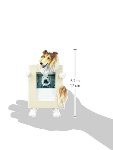 Collie Dog 2.5 x 3.5'' Handpainted Picture Frame by E&S Pets (Image #1)
