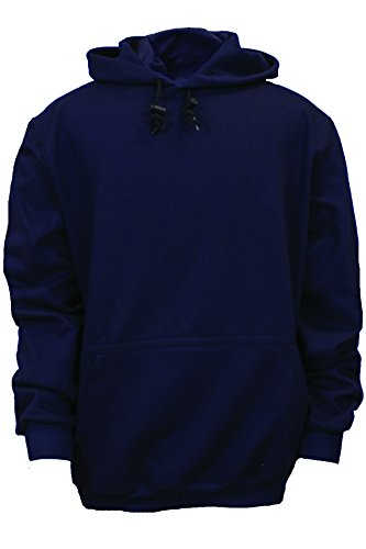 National Safety Apparel C21WT03XL UltraSoft Fleece Hooded Sweatshirt, 88% Cotton, 12% Nylon FR, X-Large, Navy by National Safety Apparel Inc