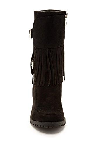 Bucco Jaxsyn Womens Mode Frans Stövlar Svart