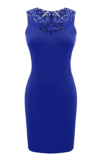 lace detailed bodycon dress - 3