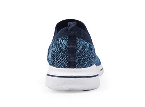 Women's Slip-On Sneakers Mesh Loafer Casual Beach Street Walking Shoes (7 B(M) US, Blue/White) by Leader shoes (Image #2)