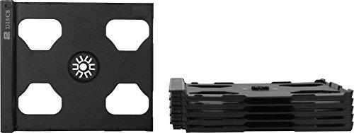 Square Deal Online - CD2R80SMDG - CD Smart Trays - 2 Disc Hinged - Dark Gray - Store Online Square