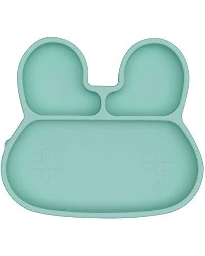 Piatto Multiscomparto in silicone Antiscivolo senza BPA Coniglio Verde Menta WM-TIBP01