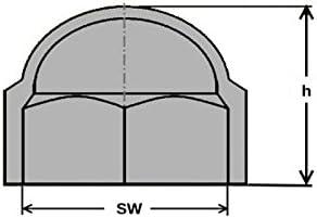 Abdeckkappe Sechskant Schutzkappe M20 Schl/üsselweite 30 mm Farbe wei/ß 25 St/ück