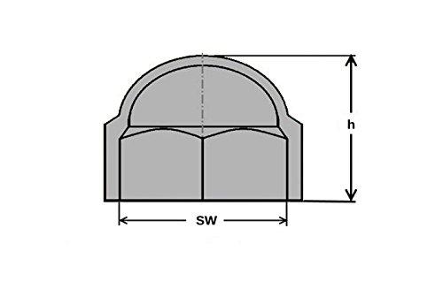 200 pi/èces M8 Hex hexagone en plastique /étanche /à la poussi/ère gris d/ôme boulon ecrou Protection caches