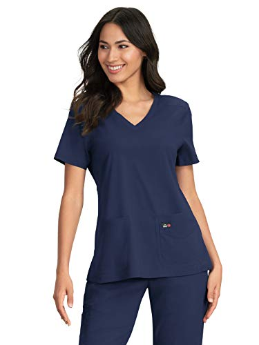 KOI Lite 387 Women's Skye Scrub Top Navy L ()