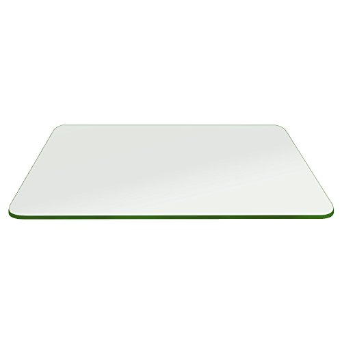 Fab Glass and Mirror 16x24RECT10THPETE-T Rectangle Tempered Glass Table Top, 16'' x 24'' by Fab Glass and Mirror