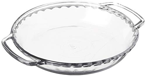 Anchor Hocking 77886 Fire-King Deep Pie Baking Dish, Glass, 9.5-Inch