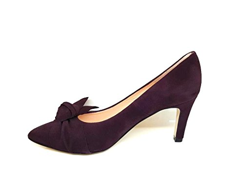 GENNIA Mille - Women´s Closed Toe Leather Pumps with Bow and Stiletto Heel 2cXeqvNoI