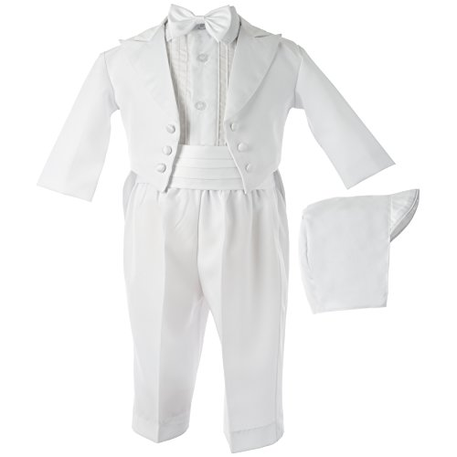 Lauren Madison baby boy Christening Baptism Infant  Tuxedo with Matching Hat