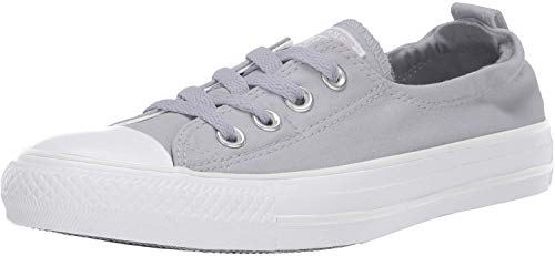 Converse Women's Chuck Taylor All Star Shoreline Linen Slip On Sneaker, Wolf Grey/Pure Platinum/White, 6 M US (On Converse Womens Slip Sneakers)