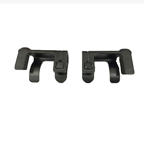V1.0 1 Pair Mobile Game Fire Button Aim Key Joystick Smartphone Tablet Gaming Trigger L1R1 Shooter Controller PUBG (Black)