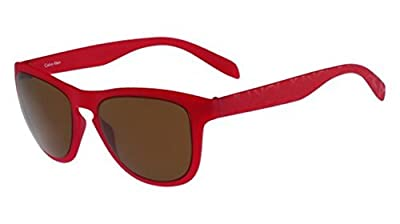 Calvin Klein Men's Square Sunglasses, Red