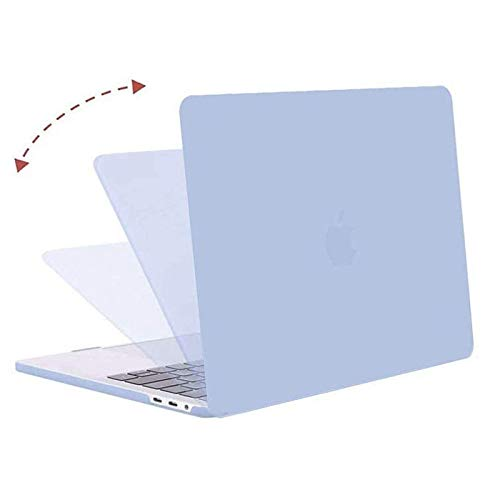 MOSISO Compatible with MacBook Pro 13 inch Case 2016-2020 Release A2338 M1 A2289 A2251 A2159 A1989 A1706 A1708, Plastic Hard Shell Case&Keyboard Cover Skin&Screen Protector&Storage Bag, Serenity Blue