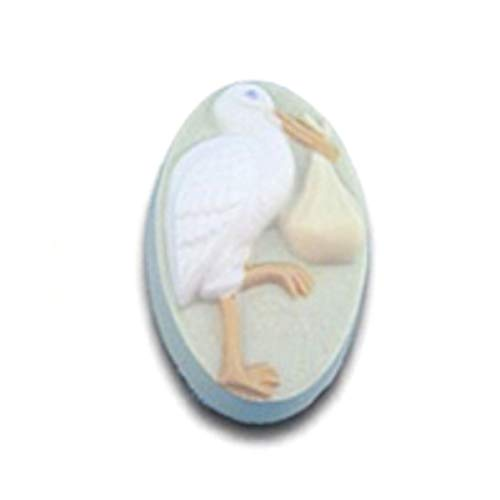 Stork with Bundle Soap Mold by Milky Way - Clear PVC - Not Silicone - MW511 ()