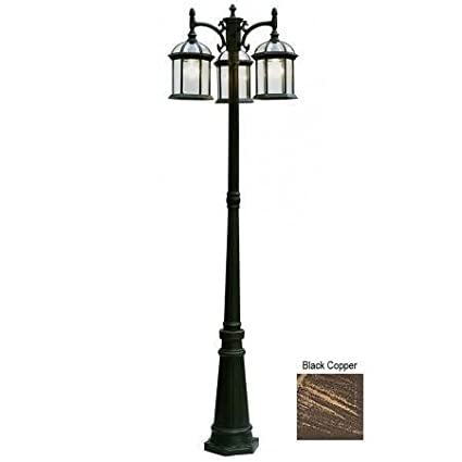 Amazon trans globe lighting 4189 bc outdoor wentworth 79 pole trans globe lighting 4189 bc outdoor wentworth 79quot pole light black copper aloadofball Image collections
