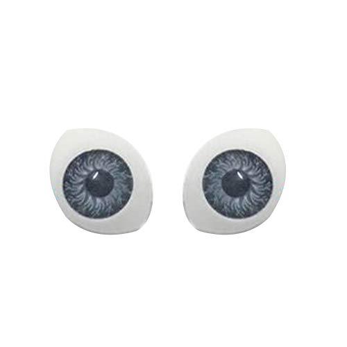 ruiycltd Colored Doll Eyeballs DIY Craft False Eyes for Reborn Making Dollhouse Accessory Home Made Grey from ruiycltd