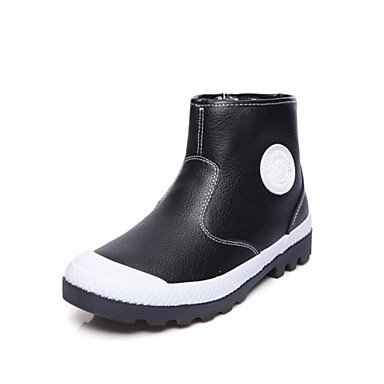 Flat Fashion Leatherette Winter Light Women'S Mid 5 Round Athletic Grey Black Boots Calf Fur CN37 Boots 5 Heel 7 UK4 RTRY Lining Boots EU37 For Shoes Casual Toe US6 5 tYzYw