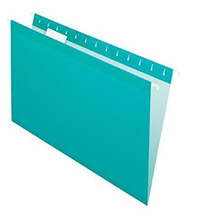 Pendaflex Hangingフォルダ、補強、1 / 5タブ、法的、25 perボックス B07118G6ZB 2-Pack Aqua 2-Pack Aqua
