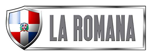 Makoroni - DOMINICAN REPUBLIC LA ROMANA Country Nation Sticker Decal Car Laptop Wall Sticker Decal 3'by9' (Small) or 4'by12' (Large)