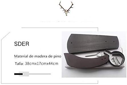 YTFAIFEN Personalización de Nombre Porta Cuchillo jamonero Curvo Personalizado Texto, Madera, Negro