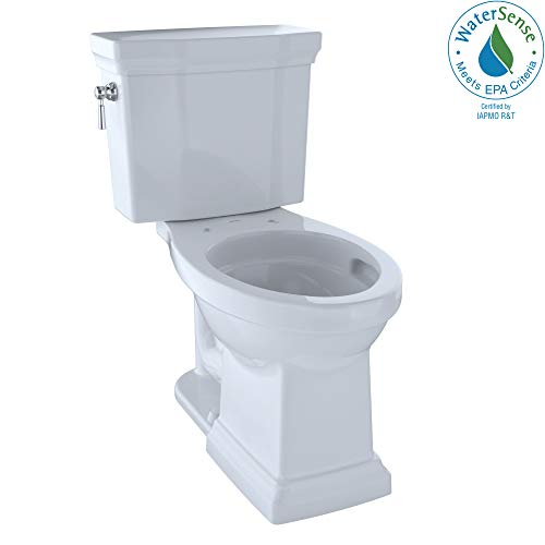 TOTO CST404CUFG#01 Promenade II 1G Two-Piece Elongated 1.0 GPF Universal Height Toilet with CEFIONTECT, Cotton White