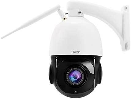 Cámara IP WiFi PTZ para Exteriores, cámara Domo HD de 5MP, Zoom óptico 20x,Smart 265, Resistente al Agua IP66, detección de Movimiento, visión ...