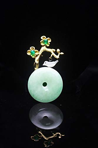 THTHT Brooch Pendant Dual-Use Shell Flower Women's Accessories Jade Safe Buckle Plum Branch Handmade Corsage Vintage Exquisite High-End Jewelry Luxury