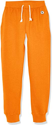 - Kid Nation Kids' Soft Brushed Fleece Casual Pull-On Jogger Sweatpant with Pockets for Boys or Girls L Orange