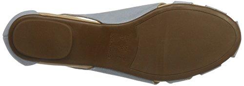 Nubuk sandalias Blue Shoe para abierta azul punta Sandal Flat Biz mujeres de Light r7Bq7OvF